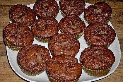 Apfel - Nougat - Muffins 2