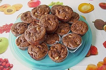 Apfel - Nougat - Muffins 6