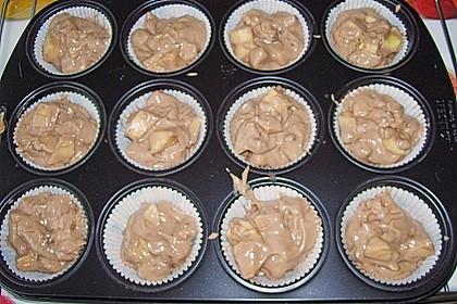 Apfel - Nougat - Muffins 16