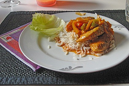 Hähnchen in Paprika Rahmsauce 1