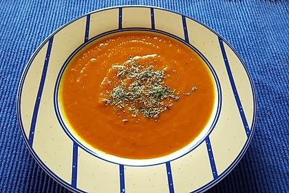 Kürbissuppe mit Ingwer und Ahornsirup 2