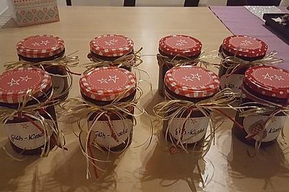 Weihnachtliche Glüh - Kirsch - Marmelade 14