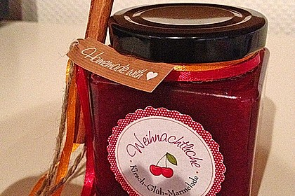Weihnachtliche Glüh - Kirsch - Marmelade 5