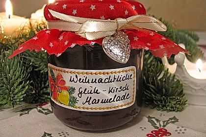 Weihnachtliche Glüh - Kirsch - Marmelade 2
