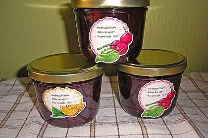 Weihnachtliche Glüh - Kirsch - Marmelade 16