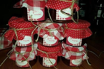 Weihnachtliche Glüh - Kirsch - Marmelade 4