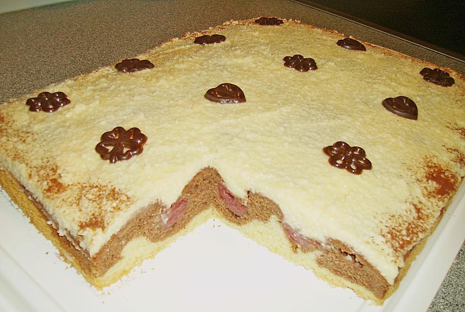 Donauwelle kuchen mit quark