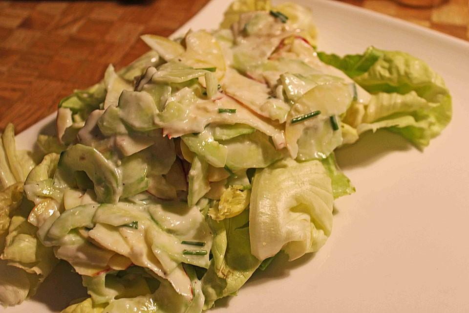 gurken apfel salat rezept mit bild von blulichblau. Black Bedroom Furniture Sets. Home Design Ideas