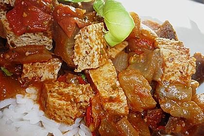 Auberginen - Tofu - Pfanne 4