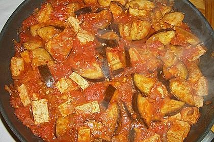 Auberginen - Tofu - Pfanne 5