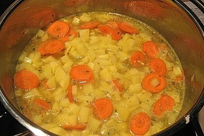 Scharfe Kartoffel - Kokos - Chili Suppe 5