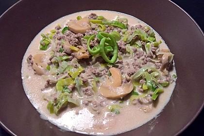 Käse-Lauch-Suppe mit Hackfleisch 25