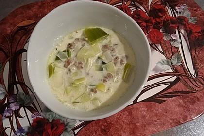Käse-Lauch-Suppe mit Hackfleisch 40
