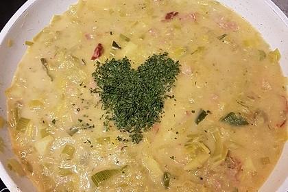 Käse-Lauch-Suppe mit Hackfleisch 144