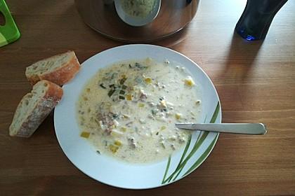 Käse-Lauch-Suppe mit Hackfleisch 136