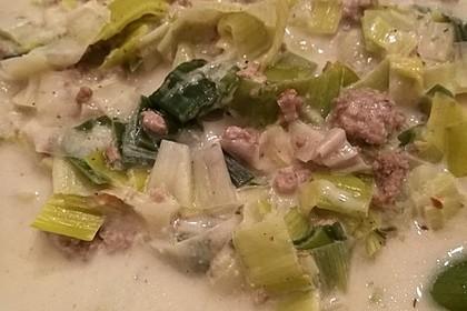 Käse-Lauch-Suppe mit Hackfleisch 137