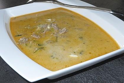 Käse-Lauch-Suppe mit Hackfleisch 69