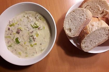 Käse-Lauch-Suppe mit Hackfleisch 15