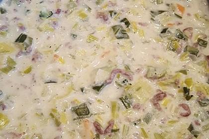 Käse-Lauch-Suppe mit Hackfleisch 56