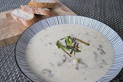 Käse-Lauch-Suppe mit Hackfleisch 18