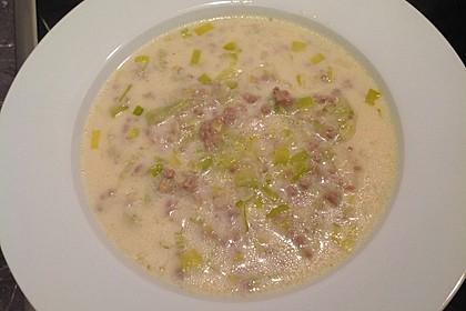 Käse-Lauch-Suppe mit Hackfleisch 85