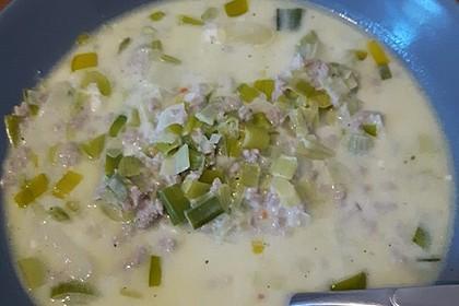 Käse-Lauch-Suppe mit Hackfleisch 71