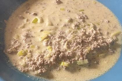 Käse-Lauch-Suppe mit Hackfleisch 111