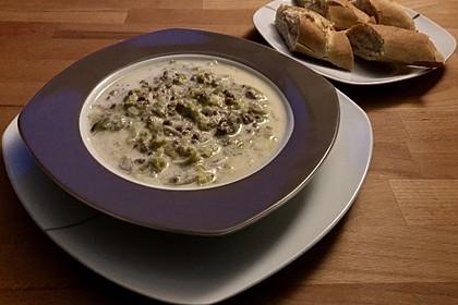 Käse-Lauch-Suppe mit Hackfleisch 34