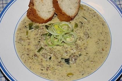 Käse-Lauch-Suppe mit Hackfleisch 19