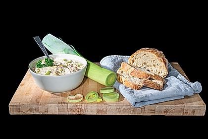Käse-Lauch-Suppe mit Hackfleisch 2