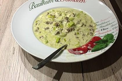 Käse-Lauch-Suppe mit Hackfleisch 36
