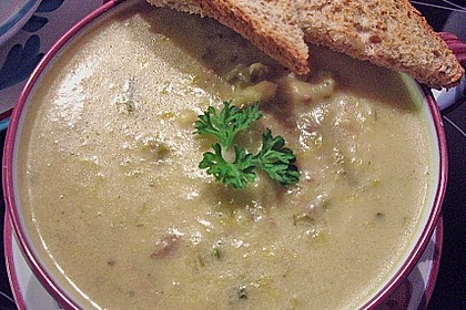 Käse-Lauch-Suppe mit Hackfleisch 53