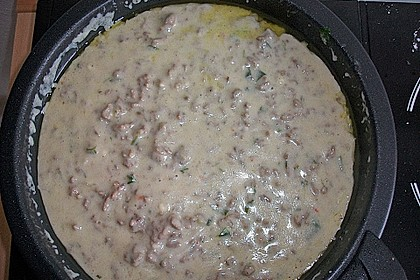Käse-Lauch-Suppe mit Hackfleisch 113