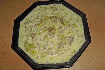Käse-Lauch-Suppe mit Hackfleisch 61