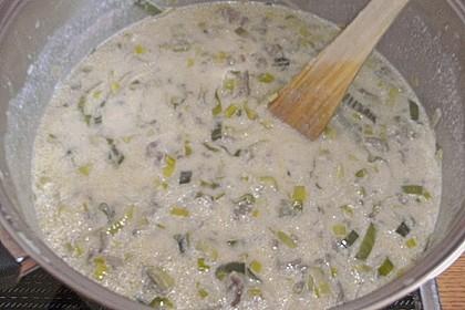 Käse-Lauch-Suppe mit Hackfleisch 167