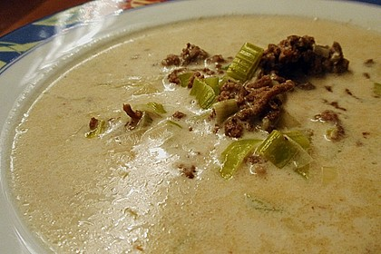 Käse-Lauch-Suppe mit Hackfleisch 35