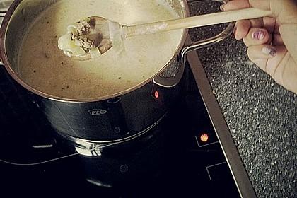 Käse-Lauch-Suppe mit Hackfleisch 122