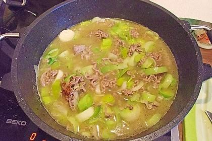 Käse-Lauch-Suppe mit Hackfleisch 91