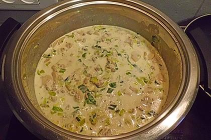 Käse-Lauch-Suppe mit Hackfleisch 11
