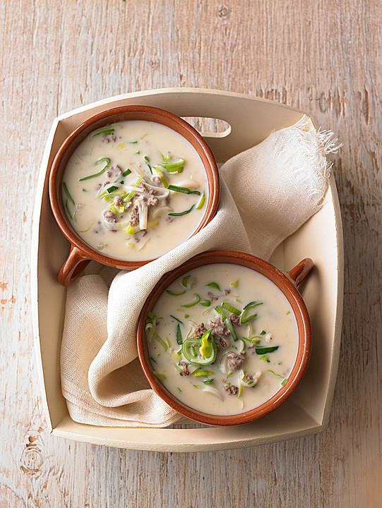 Käse-Lauch-Suppe mit Hackfleisch von Nitseltrik | Chefkoch.de