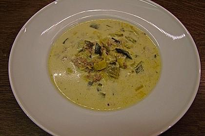 Käse-Lauch-Suppe mit Hackfleisch 7
