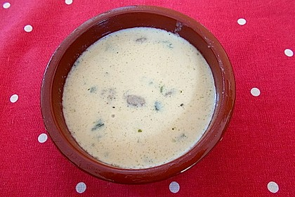 Käse-Lauch-Suppe mit Hackfleisch 110