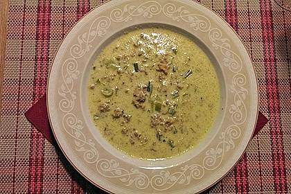 Käse-Lauch-Suppe mit Hackfleisch 88