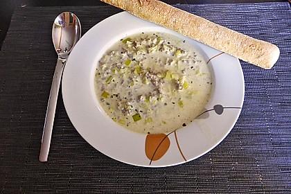 Käse-Lauch-Suppe mit Hackfleisch 16