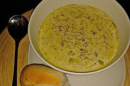 Käse-Lauch-Suppe mit Hackfleisch 99