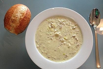 Käse-Lauch-Suppe mit Hackfleisch 49