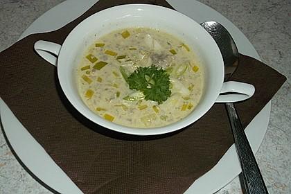 Käse-Lauch-Suppe mit Hackfleisch 17