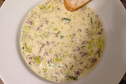 Käse-Lauch-Suppe mit Hackfleisch 27