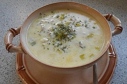Käse-Lauch-Suppe mit Hackfleisch 37