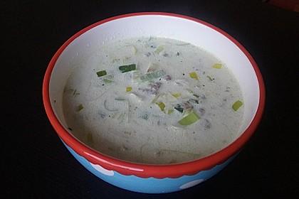 Käse-Lauch-Suppe mit Hackfleisch 83